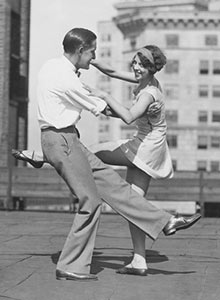 old photo of couple dancing